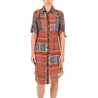 Iconique IC7-027 Frauen Orange aztekischen Camisole Strandkleid
