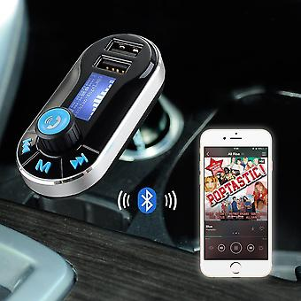 ONX3  FM Transmitter Car Kit Wireless Bluetooth Sound Transmission Modulator with Music Player , Dual USB Car Charger, Support SD/TF Card, Music Control, Hands-Free Calling For Samsung Galaxy A7 (2017)