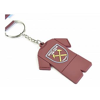 West Ham United FC Official PVC Full Kit Keyring