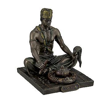 Bronzed Orunla God of Divination and Destiny Statue