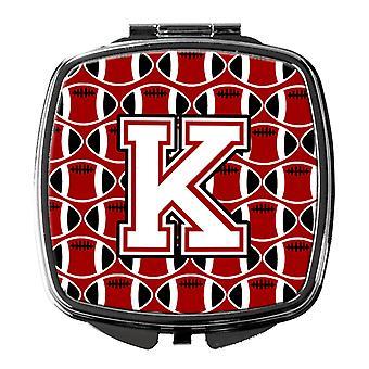 Buchstabe K Fußball Kardinal und weiß Taschenspiegel