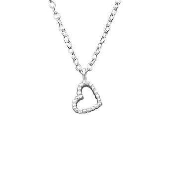 Heart - 925 Sterling Silver Plain Necklaces - W19684X