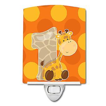 Carolines Schätze BB9008CNL Zoo Monat 1 Giraffe Keramik Nachtlicht