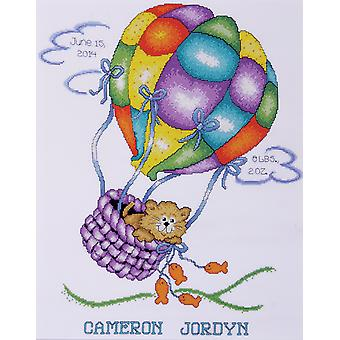 Balloon Cat Sampler Counted Cross Stitch Kit 11