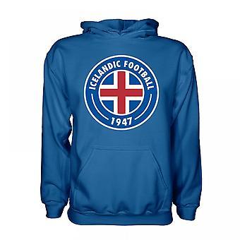Iceland Core Logo Hoody (Blue) - Kids