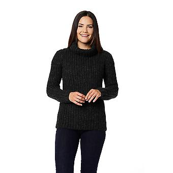 Invisible World Women's 100% Brushed Baby Alpaca Turtleneck Pullover