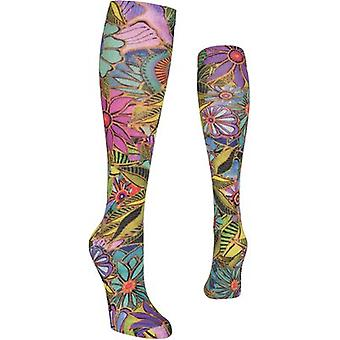 Laurel Burch Knee High Socks-All Over Floral LBKHS-7N001