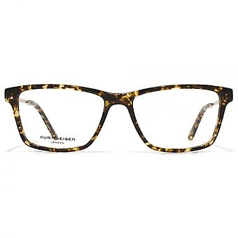 Kurt Geiger Susan Rectangular Acetate Glasses In Tortoiseshell