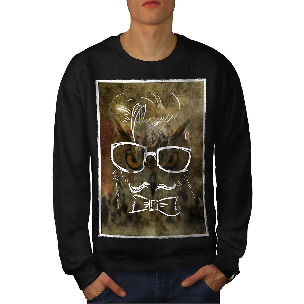 Hippie chouette Animal hommes noirSweatshirt