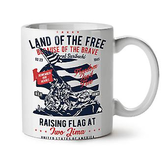Land Of The Free NEW White Tea Coffee Ceramic Mug 11 oz   Wellcoda
