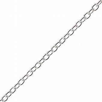 Silver 2.5mm wide Cable Pendant Chain 18 inches