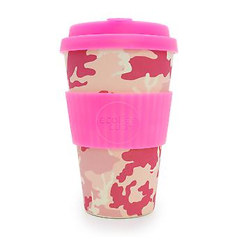 Ecoffee Cup Miss Wasilla with Hot Pink Silicone 14oz
