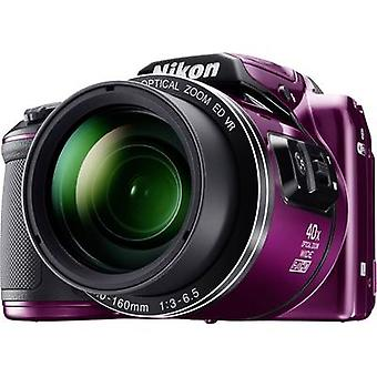 Digital camera Nikon Coolpix B-500 16 MPix Optical zoom: 40 x Purple Full HD Video, Flip screen, Bluetooth