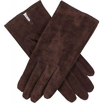 Dents Emily Plain Suede Gloves - Mocca Brown