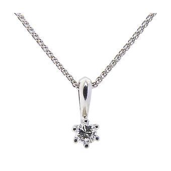 White Gold Christian pendant with diamond