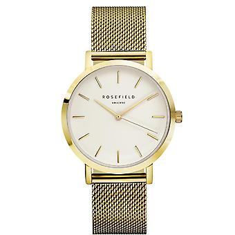 Rosefield The Mercer Gold Mesh Bracelet Ladies' Watch