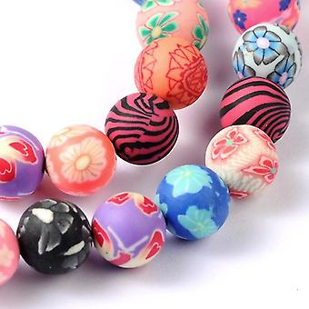 Strand 35+ Mixed Polymer Clay 10mm Plain Round Beads HA24135