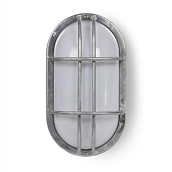 Garden Trading St Ives Bulk Head Exterior Wall Light - Galvanised