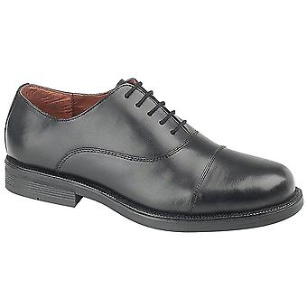 Boys Leather Capped Oxford Cadet Lace Up Smart School Formal Shoes
