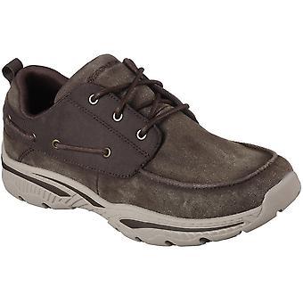 سكيتشرز رجالي كريستون فوسين خففت الرباط حتى أحذية قارب عارضة