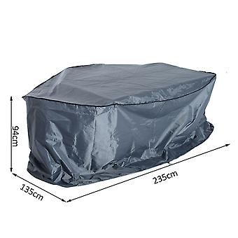 Outsunny Outdoor Garden 2 - 3 Seater Sofa Cover Water Resistant Furniture Set Cover