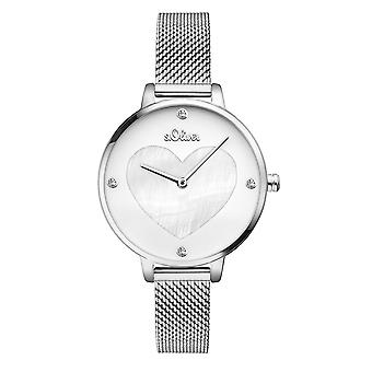 s.Oliver women's watch wristwatch stainless steel as 3472-MQ