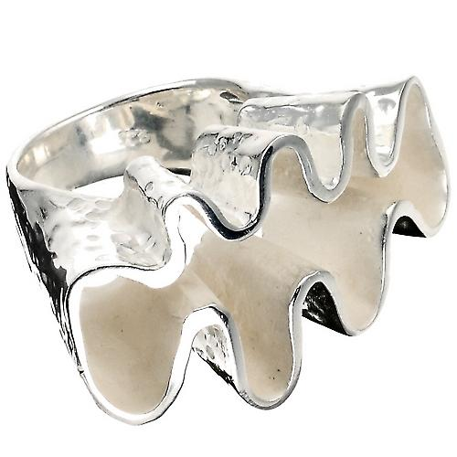 Waves Luxury Silver Ring