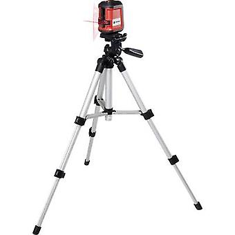 TOOLCRAFT CL8 Cross line laser Incl. tripod, Self-levelling Range (max.): 8 m Calibrated to: Manufacturers standards (no certificate)