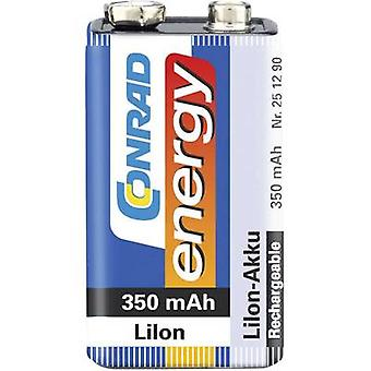 9 V / PP3 battery (rechargeable) Li-ion Conrad energy 6LR61