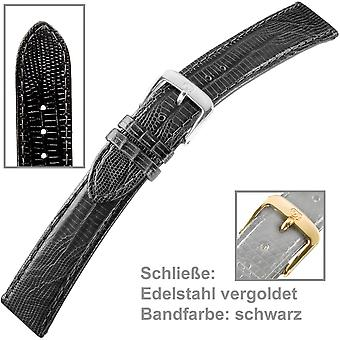 Watch strap men gold plated 18 mm stainless steel