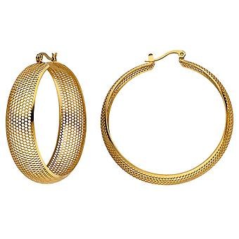 Hoop earrings large coated colors earrings stainless steel gold with hole pattern
