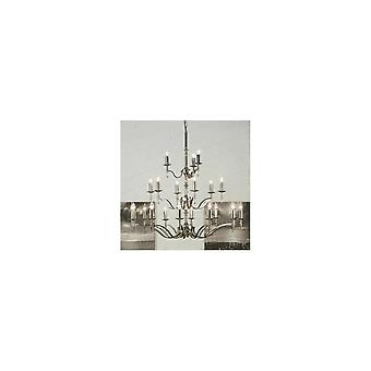 Interiors 1900 Stanford Polished Nickel Chandelier, 21 Light