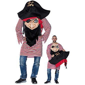 Crazy pirate mens kostuum piraat carnaval