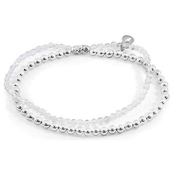 Anchor and Crew Harmony Clear Rock Crystal Silver and Stone Bracelet - Silver