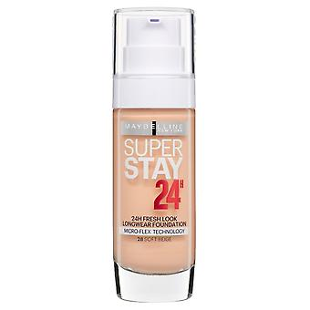 2 x Maybelline Superstay 24H Fresh Look Longwear Fundación 30ml - 28 Beige suave