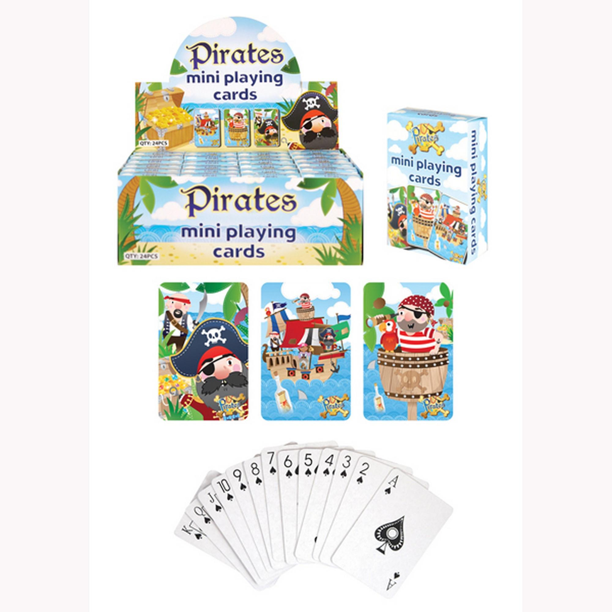 Henbrandt Childrens/Kids Pirate Mini Playing Cards (Box Of 24)