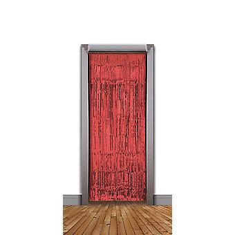 Doorway Curtain Red Tinsel (240x94cm)