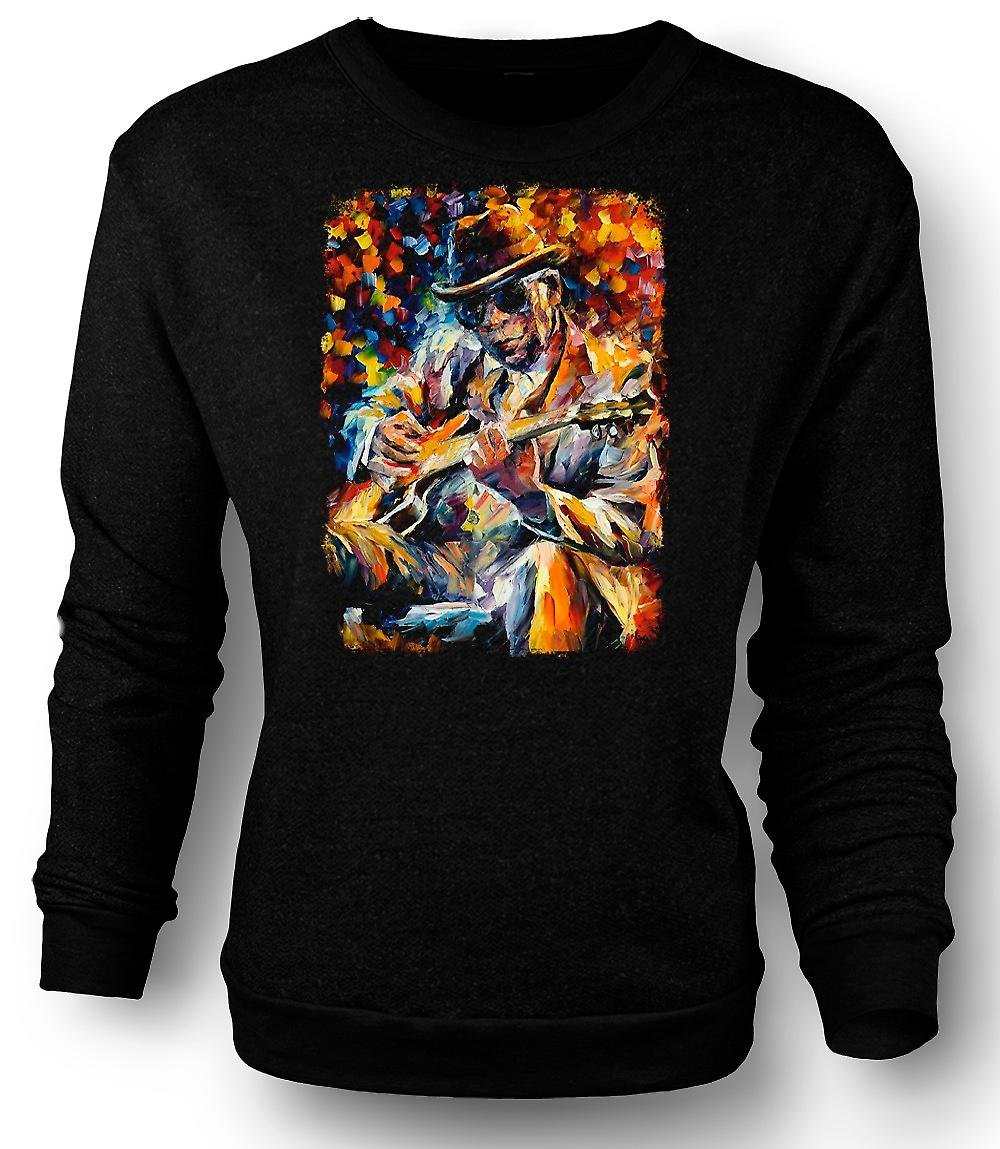 Mens Sweatshirt John Lee Hooker - Blues - Oil Painting