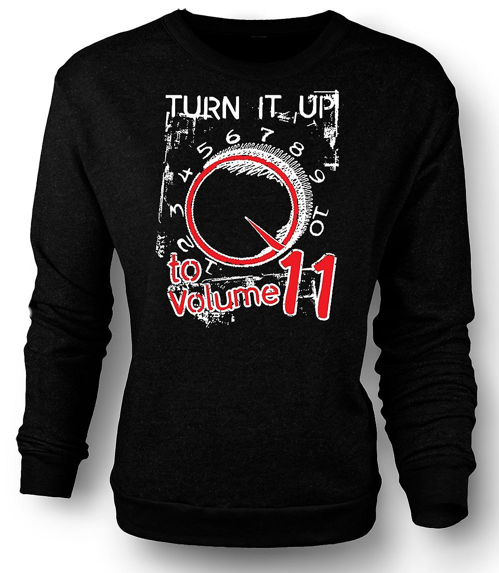 Mens Sweatshirt Spinal Tap Volume 11 - Funny