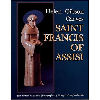 HELEN GIBSON CARVES SAINT FRANCIS OF ASS