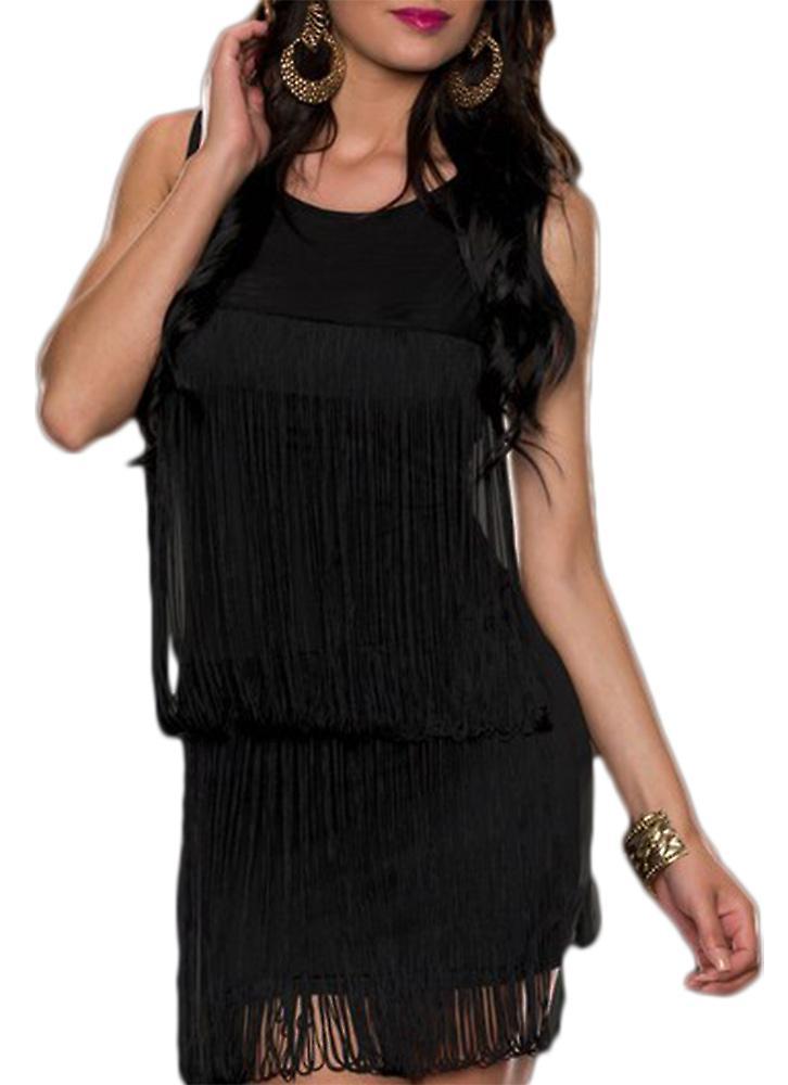 Waooh - Short dress with fringe Eson