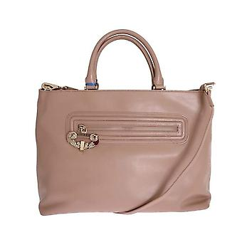 Versace Jeans Beige Satchel Shopping Tote Bag -- VER0750512