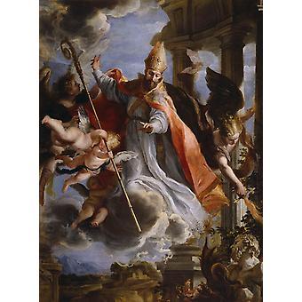 Triumph ot St. Augustine, Claudio Coello, 50x37cm