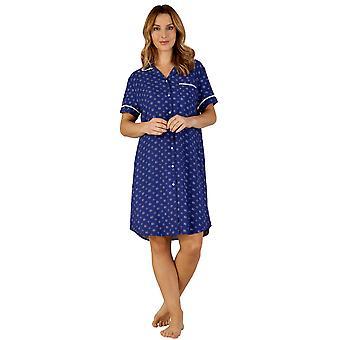 Slenderella GL3712 Frauen Gaspe Floral Schlaf-Shirt Nighty Nachthemd