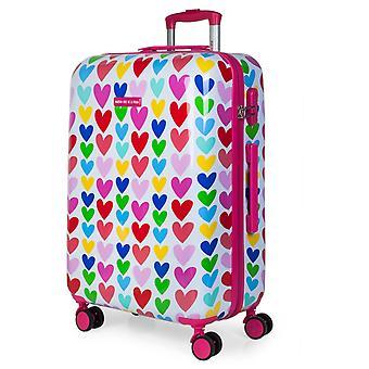 Child 67 Cm polycarbonate medium suitcase stamped Agatha Ruiz De La Prada 130660