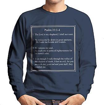 Religious Quotes The Lord Is My Shepherd Men's Sweatshirt