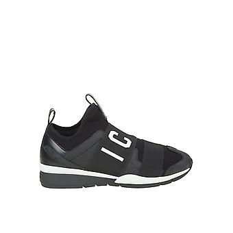 Dsquared2 Black Nylon Slip On Sneakers