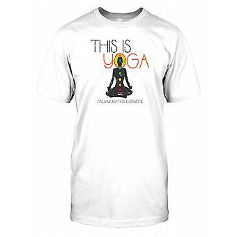 Detta är Yoga - daglig Yoga för alla Mens T Shirt