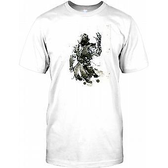 Ninja Warrior Pop-Art Design Herren T Shirt