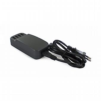 Transformer Black 4 USB ports 6.8A corded removable Muvit